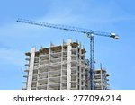 crane and building construction ... | Shutterstock . vector #277096214