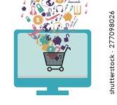 e learning design over white... | Shutterstock .eps vector #277098026