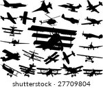collection of model air planes