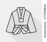 karate suit flat icon with long ... | Shutterstock .eps vector #277098833