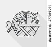 christmas gift baskets flat... | Shutterstock .eps vector #277099094