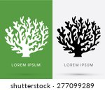 silhouette coral sign graphic... | Shutterstock .eps vector #277099289