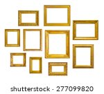 set of golden vintage frame on... | Shutterstock . vector #277099820