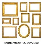 set of golden vintage frame on... | Shutterstock . vector #277099850