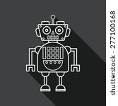 robot concept flat icon with... | Shutterstock .eps vector #277100168