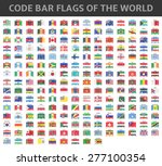 code bar flags of the world | Shutterstock .eps vector #277100354