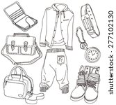 clothing and accessories | Shutterstock .eps vector #277102130