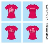 set of shirts with text for... | Shutterstock .eps vector #277104296
