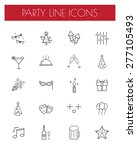 party line icon set. | Shutterstock .eps vector #277105493