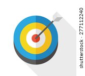 target   arrow flat icon with...