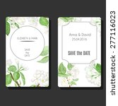 set of vector card templates... | Shutterstock .eps vector #277116023