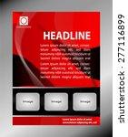 vector brochure  flyer ... | Shutterstock .eps vector #277116899