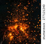 fire in nature . bokeh from the ... | Shutterstock . vector #277121240