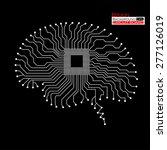 brain. cpu. circuit board.... | Shutterstock .eps vector #277126019