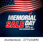 memorial day sale | Shutterstock .eps vector #277131890