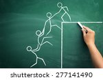 team work for success ... | Shutterstock . vector #277141490