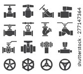 Valve And Taps Icon Set