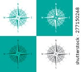 detailed set compass windrose... | Shutterstock .eps vector #277150268