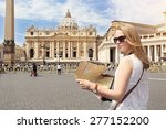 visiting rome and the vatican | Shutterstock . vector #277152200