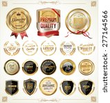 quality golden badges and... | Shutterstock .eps vector #277164566