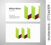 modern letter w origami... | Shutterstock .eps vector #277166309
