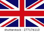 flag of great britain. vector. | Shutterstock .eps vector #277176113