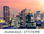 bangkok cityscape at twilight ... | Shutterstock . vector #277176398