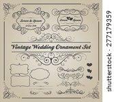 set of vintage wedding... | Shutterstock .eps vector #277179359