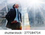 cheerful businessman with hands ... | Shutterstock . vector #277184714