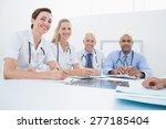 team of doctors having a...   Shutterstock . vector #277185404