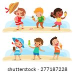 illustration of children... | Shutterstock .eps vector #277187228