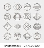 set of retro line abstract... | Shutterstock .eps vector #277190120