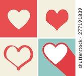 heart icons set  ideal for... | Shutterstock .eps vector #277191839