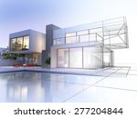 3d rendering of a luxurious... | Shutterstock . vector #277204844