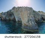 blue caves in zakynthos island  ... | Shutterstock . vector #277206158