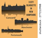 set of 3 city in new hampshire  ... | Shutterstock .eps vector #277213988