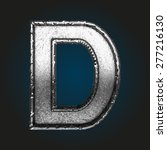 d vector metal letter   Shutterstock .eps vector #277216130