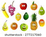 happy smiling cartoon fruits... | Shutterstock .eps vector #277217060