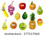 happy smiling cartoon fruits... | Shutterstock .eps vector #277217060