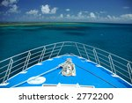 Boat Traveling To Coral Reef ...