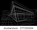 architectural sketch of modern... | Shutterstock .eps vector #277220204