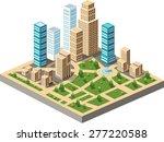 isometric city center on the... | Shutterstock . vector #277220588