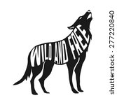 wolf silhouette with concept... | Shutterstock .eps vector #277220840