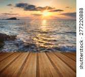 dawn sunrise landscape over...   Shutterstock . vector #277220888