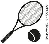 tennis racket and ball. vector... | Shutterstock .eps vector #277221329