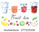 make cold tea  lemonade. fresh... | Shutterstock .eps vector #277225334