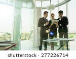 business partners discussing... | Shutterstock . vector #277226714