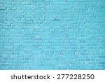 Blue Brick Wall Background.