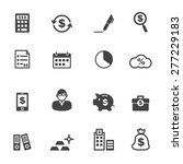 accounting icons  mono vector... | Shutterstock .eps vector #277229183
