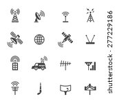 antenna and satellite icons ... | Shutterstock .eps vector #277229186